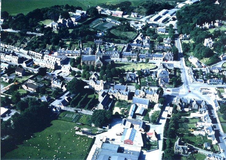 Aerial photograph of south east quadrant of Dornoch