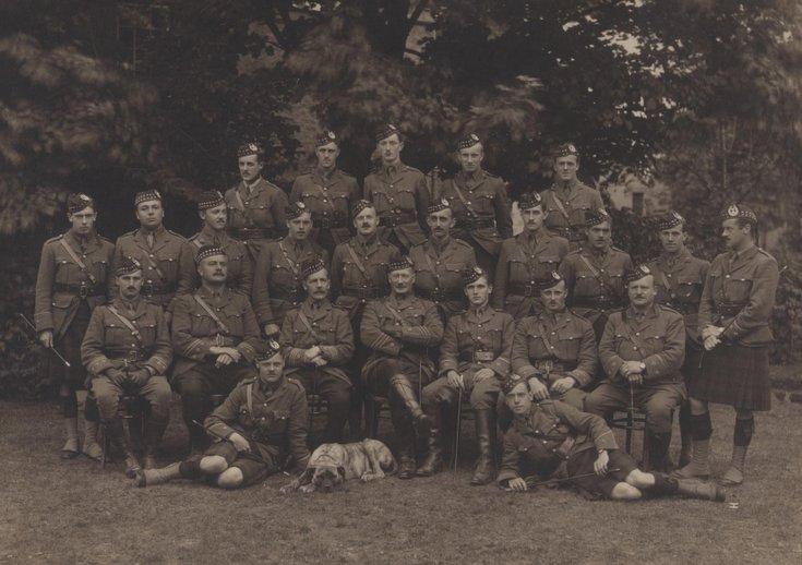 Officers of 11th Gordon Highlanders, Dornoch, 1915.