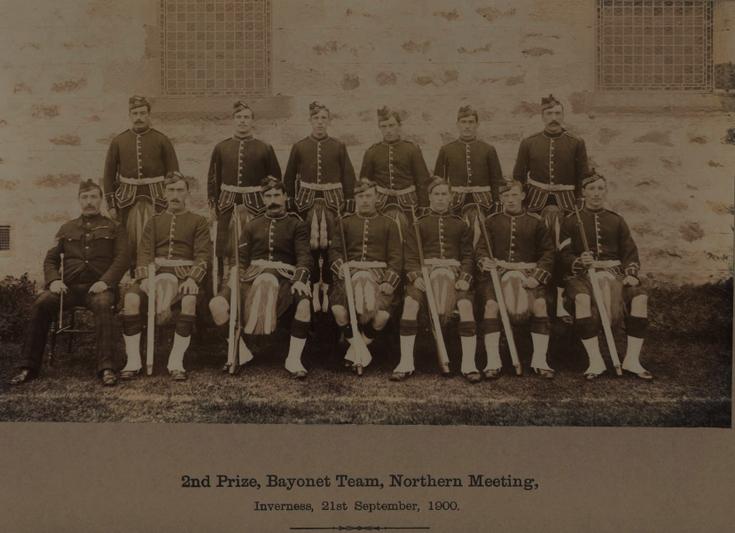 B company, 1st Sutherland H.R. Volunteers, bayonet team, 1900