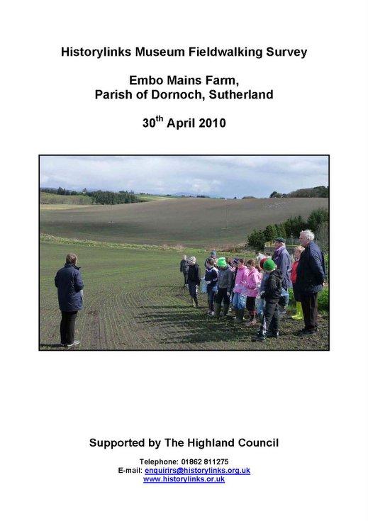 Historylinks Field Walking Survey April 2010