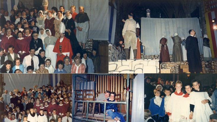 Stage production on history of Dornoch in Dornoch Cathedral