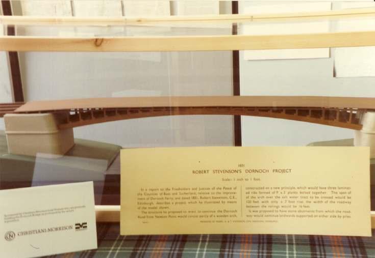 Robert Stevenson's Dornoch Bridge model