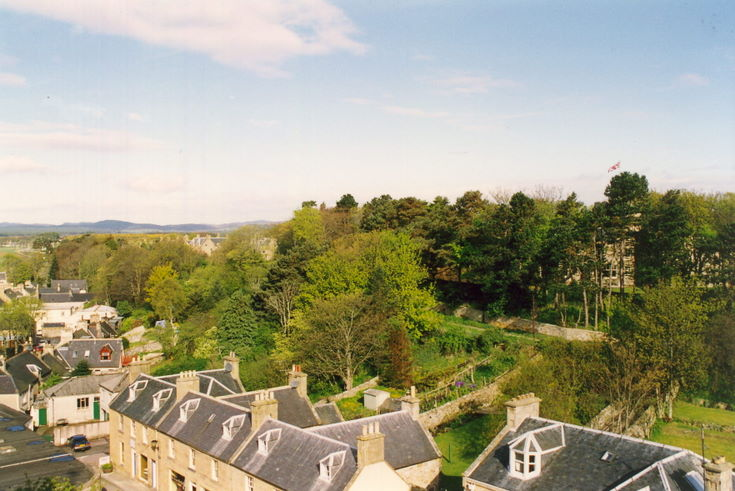 View from Cathedral tower to the north-west to the Bughfield Hotel