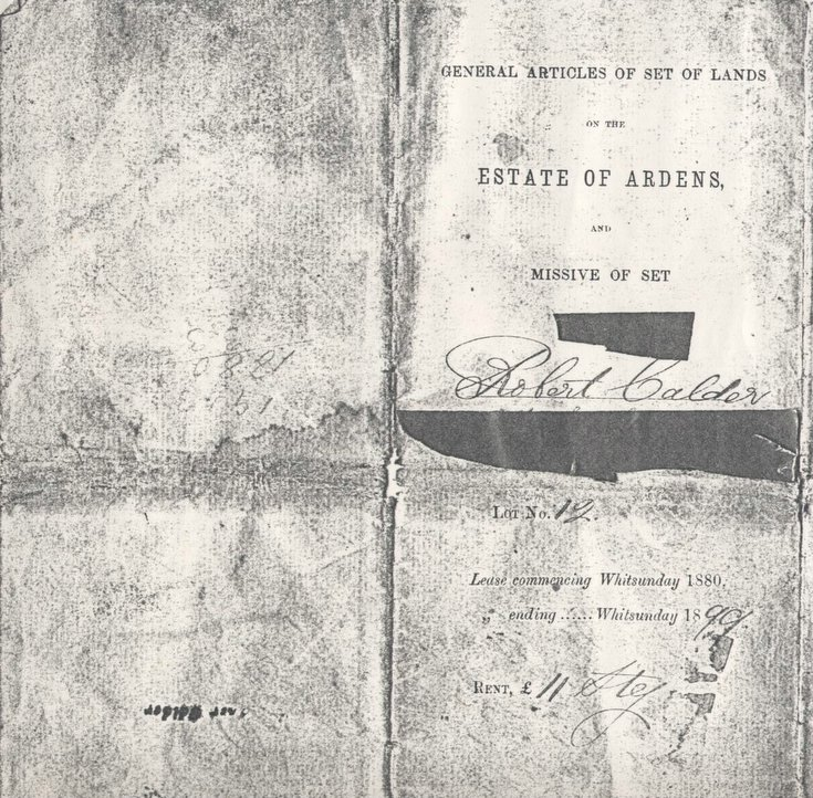 Articles of estate of Ardens