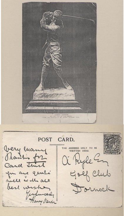 Postcard from Harry Vardon