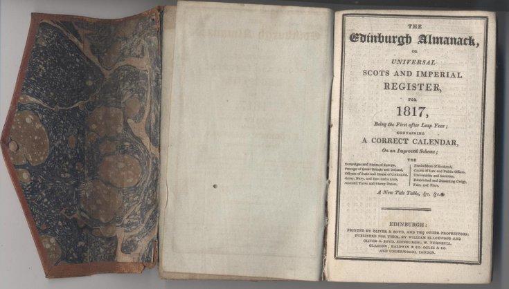 Edinburgh Almanac 1817
