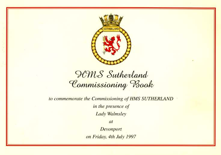 HMS Sutherland Commissioning Book