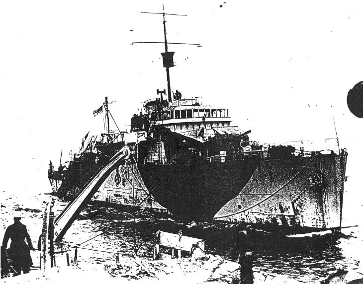 Letter and photo of HMS Dornoch