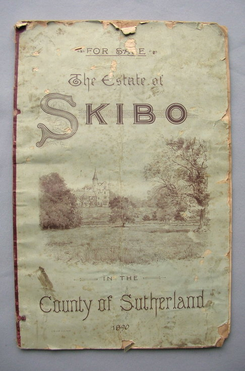 Sale particulars of the Estate of Skibo 1890