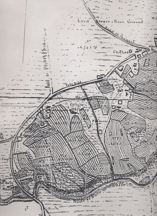 Sutherland Estate map showing Ballvraid and pasture to west