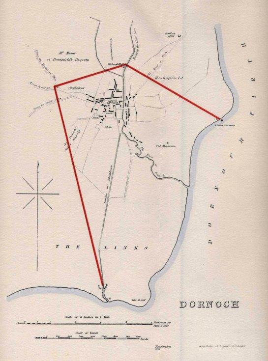 Map of Dornoch 1832