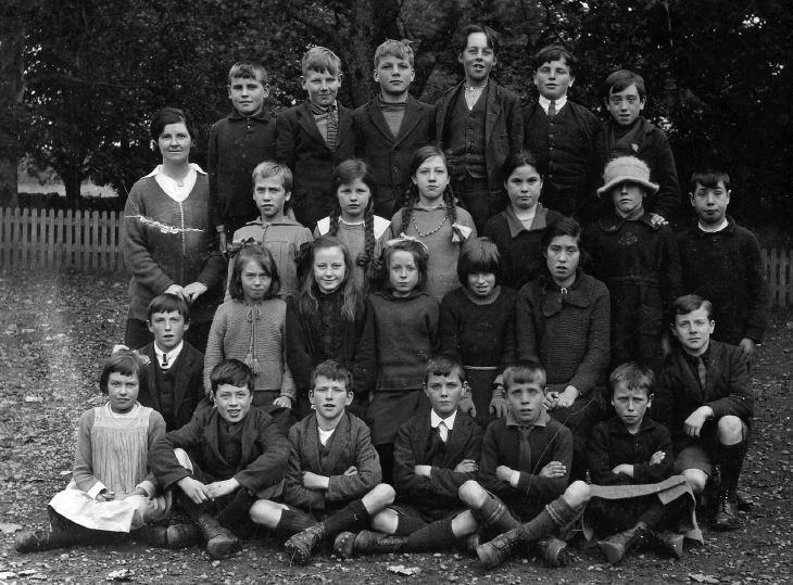 Photograph of Skibo school group, ~1930's