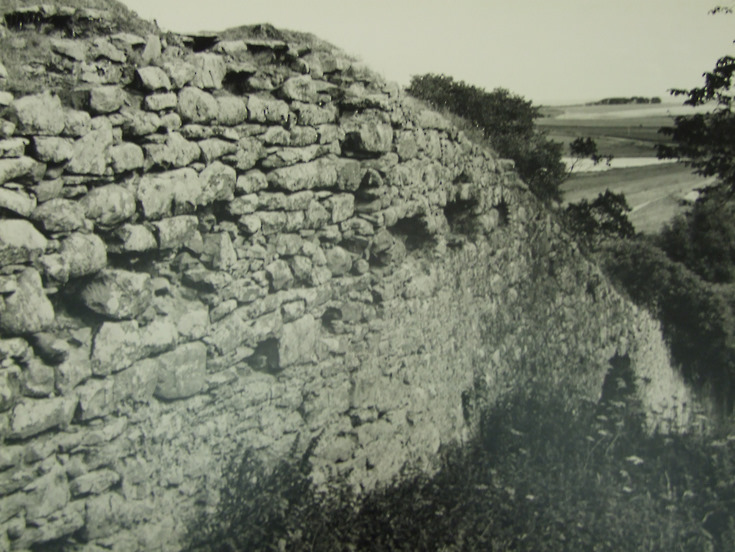 Part of the wall of Skelbo Castle