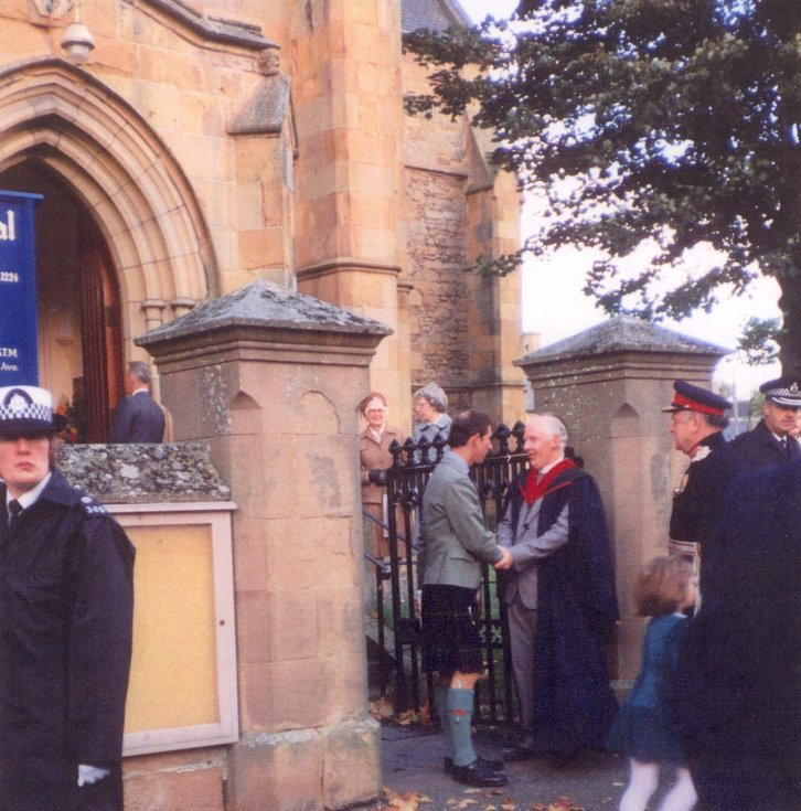Prince Charles Vist to  Dornoch Cathedral 1 Oct 1989