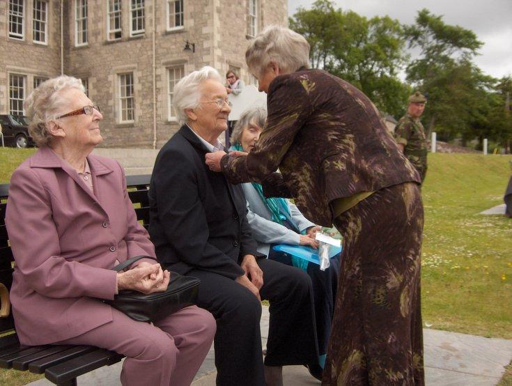 Women's Land Army Badge presented to Susan Read (Bonar Br)