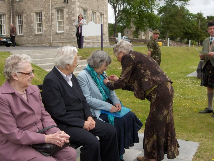 Women's Land Army Badge presented to Margaret Martin (Golspie)