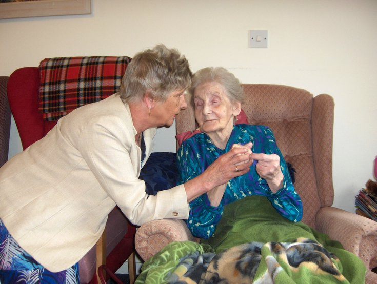 Women's Land Army Badge presented to Helen Innes (Golspie)