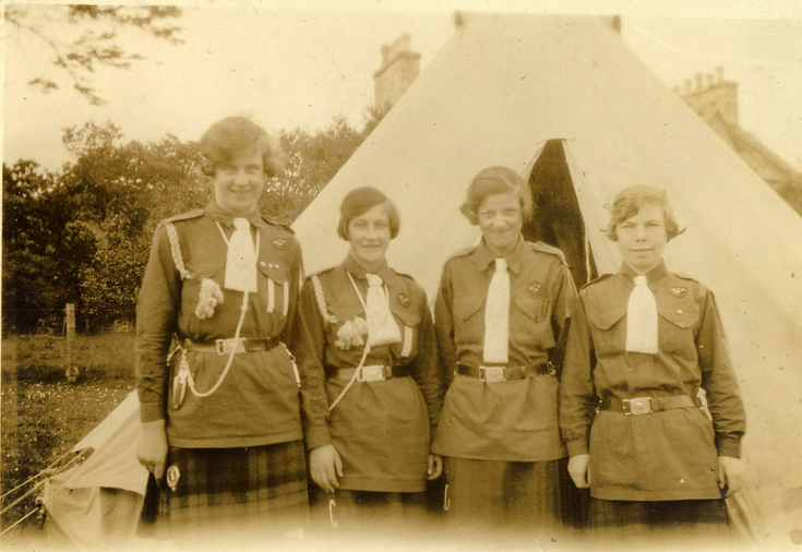 Dornoch Guides - Poppy Patrol at camp 1937