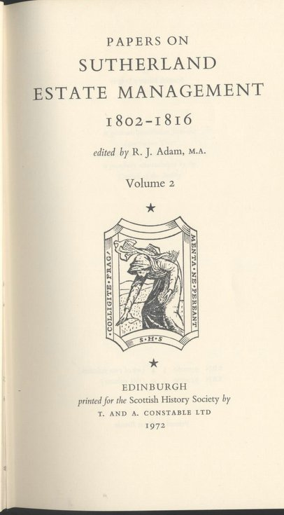 Sutherland Estate Management 1802-1816