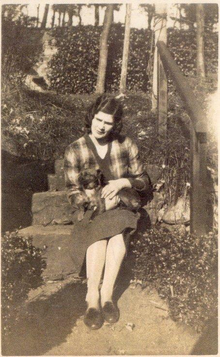 Margaret Munro with dog