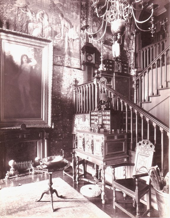 Hall and staircase the Grange