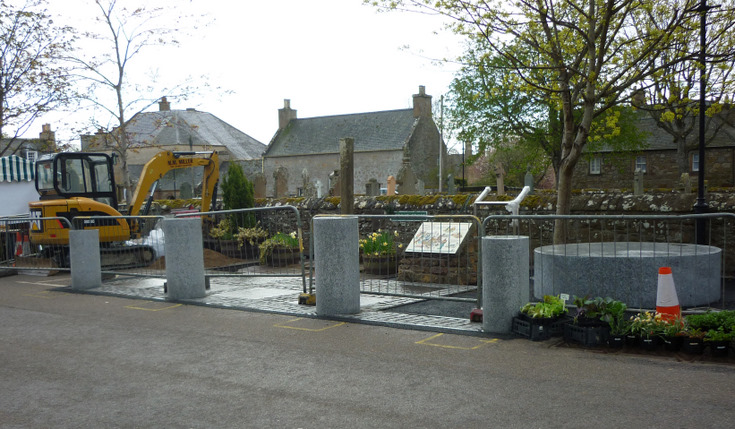 Mercat Cross, Dornoch site development 2010 nearing completion