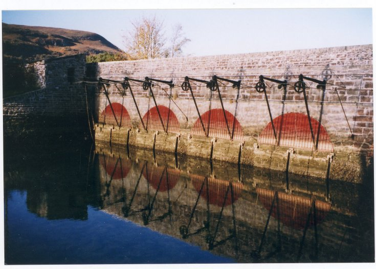 General view of The Mound sluice gates