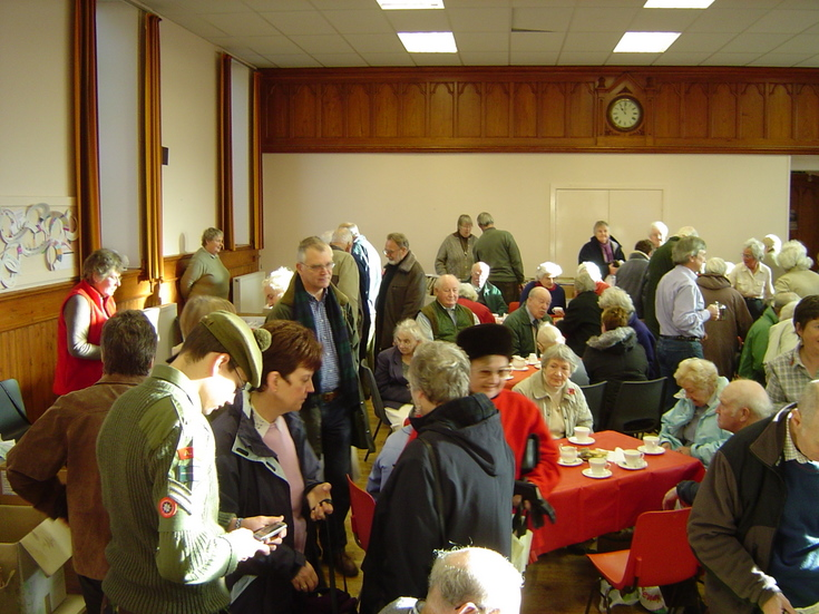 Stalls surrounding coffee tables at the Society Coffee Morning