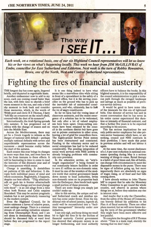 Fighting the fires of financial austerity 2011