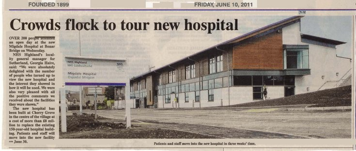 Public viewing of the newe Migdale Hospital June 2011