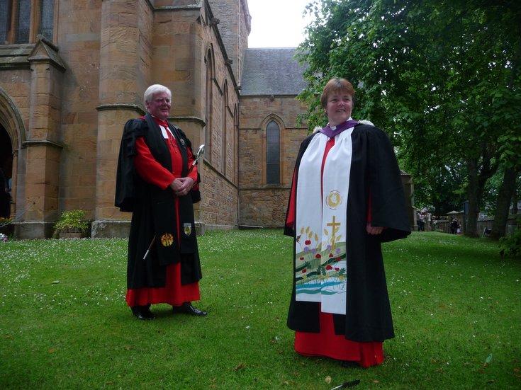 Rev Susan Brown with Rev John B Cairns Dean of the Chapel Royal
