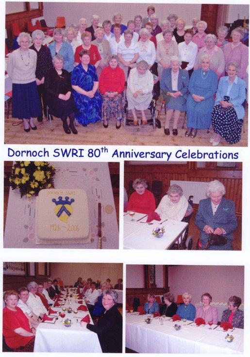 Dornoch SWRI Archives 1926 to 2011 - 80th Anniversary 2006