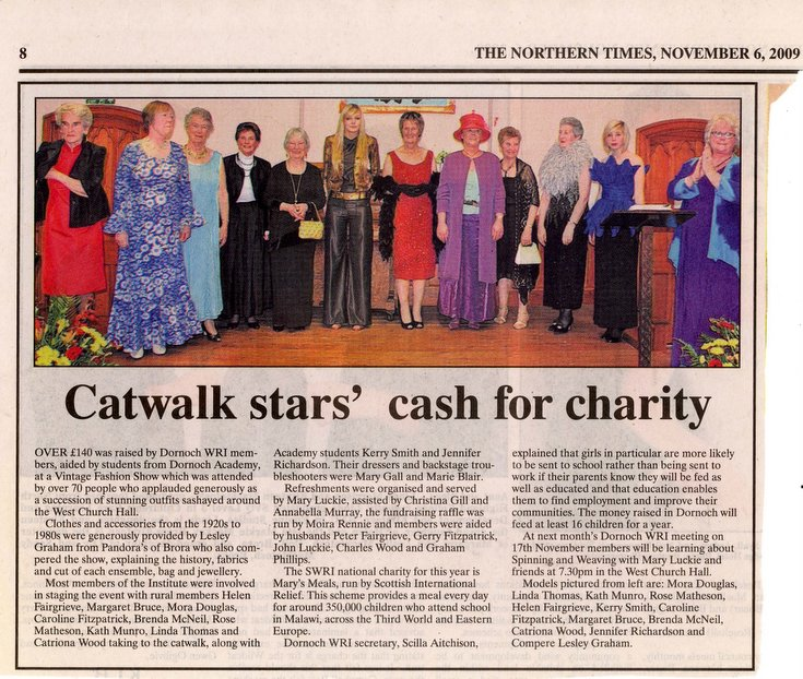 Dornoch SWRI 'Catwalk stars' cash for charity'