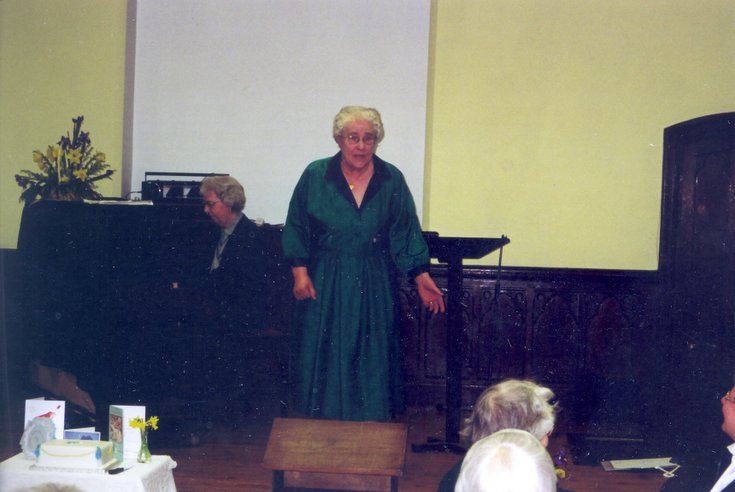 Dornoch SWRI  75th anniversary performance by Helen Kruger