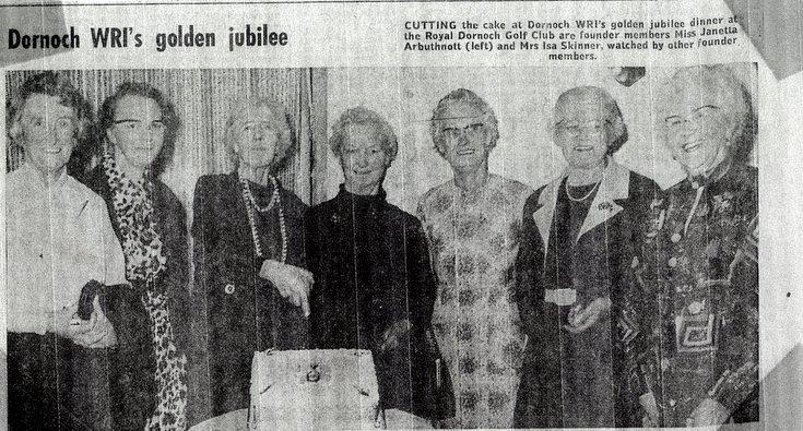 Dornoch SWRI Golden Jubilee 1976