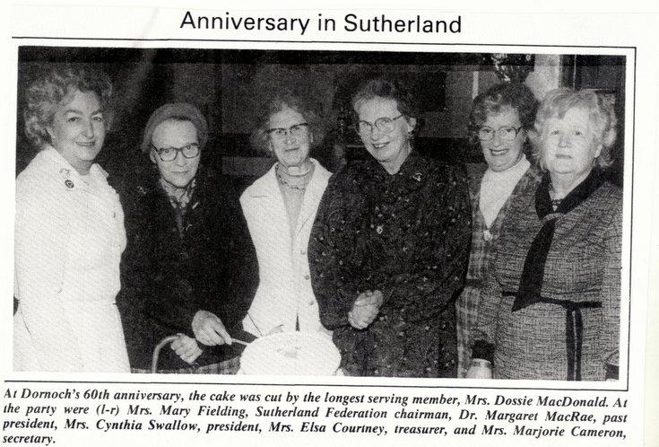 Dornoch SWRI  60th Anniversary