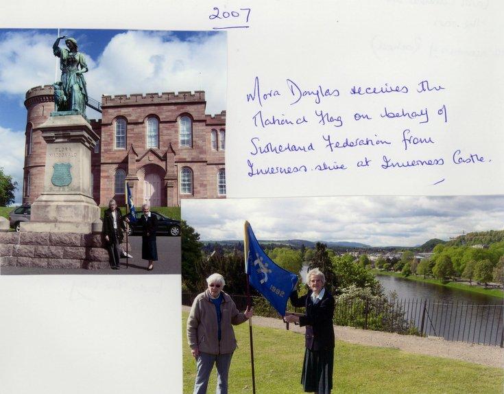 Dornoch SWRI  Receiving National Flag 2007