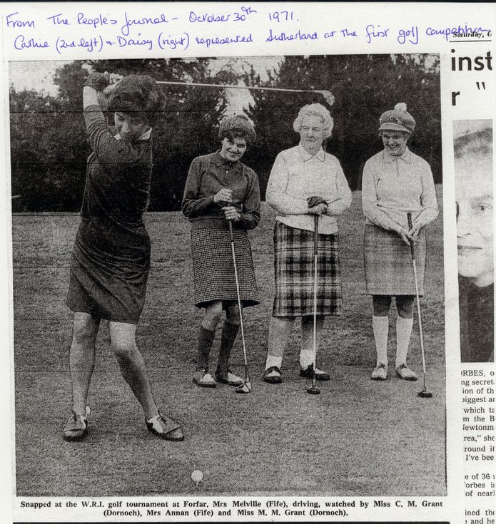 Dornoch SWRI  People's Journal cutting Golf Competition 1971