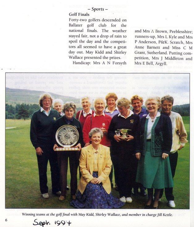 Dornoch SWRI  - Golf finals 1994