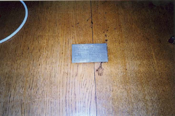 Plaque on council table