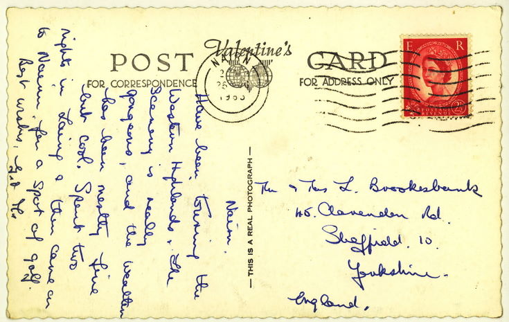 Reverse of Furness collection postcard 'Lairg'