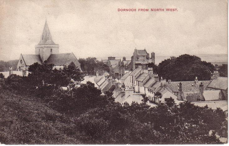 Cathedral and Dornoch from the North West