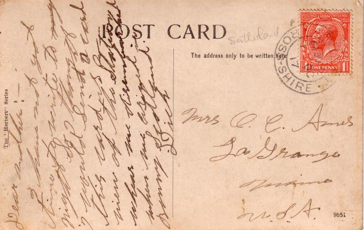 Reverse of Bonar Bridge Station postcard Basil Hellier collection