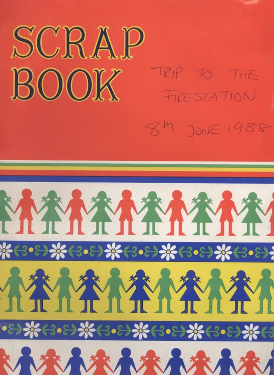 Scrapbook of cubs trip to Dornoch Fire Station 1988