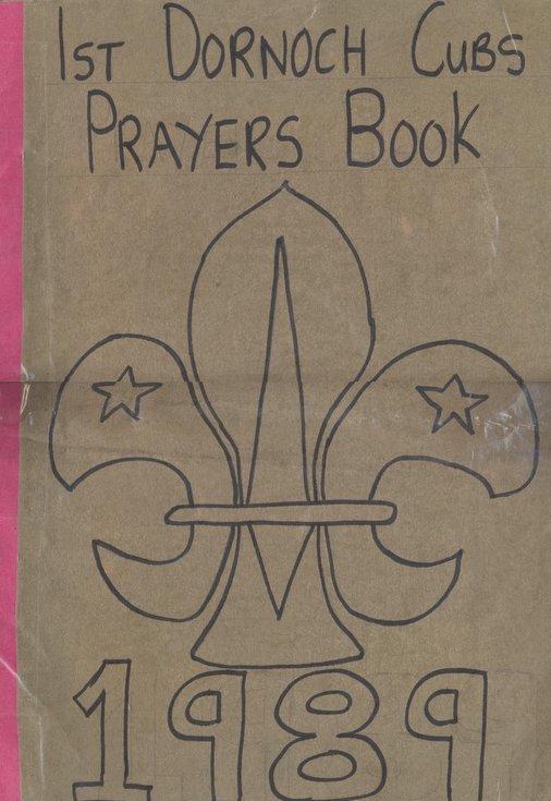 1st Dornoch Cubs Prayers Book 1989