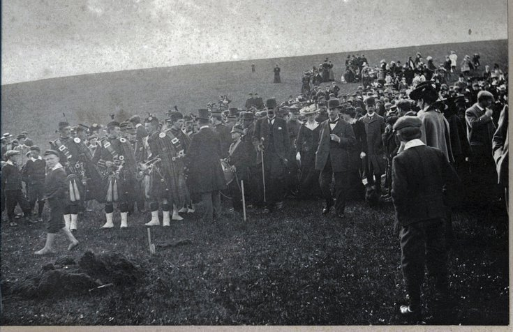Cutting of the first sod Dornoch Light Railway