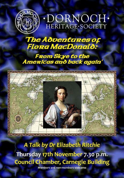 Flora MacDonald in America - talk to Dornoch Heritage Society 2011