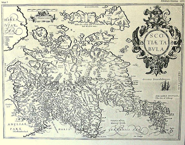 Ortelius map of Scotland 1573
