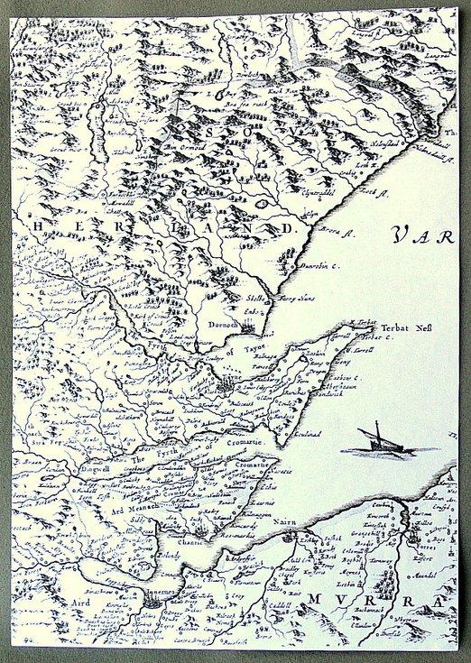 Part of detailed Blaeu map 1653