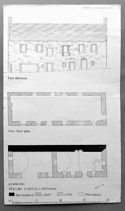 Skelbo Castle House drawings
